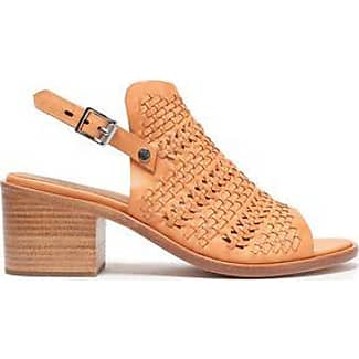 Rag & Bone Woman Studded Leather-trimmed Suede Sandals Beige Size 39.5 Rag & Bone