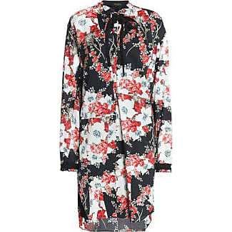 Rag & Bone Woman Pussy-bow Floral-print Cotton Mini Dress Black Size S Rag & Bone
