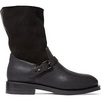 RAG&BONE Woman Oliver Shearling And Leather Boots Size 39.5