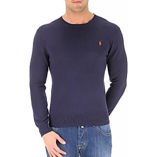 Jersey de Hombre, Cardigan, Azul Marina, Algodon, 2017, L M S XXL Ralph Lauren