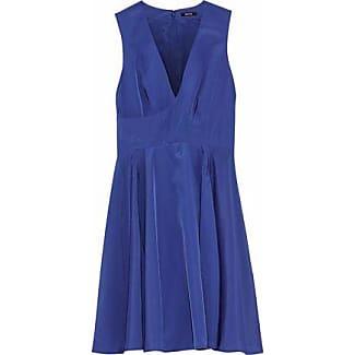 Raoul Woman Crepe De Chine Mini Dress Royal Blue Size 34 Raoul