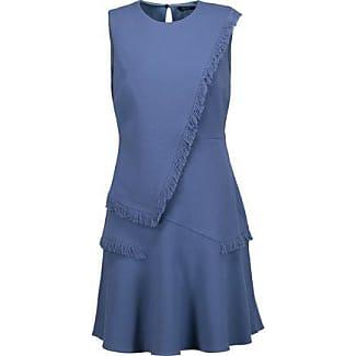 Raoul Woman Crepe De Chine Mini Dress Royal Blue Size 44 Raoul