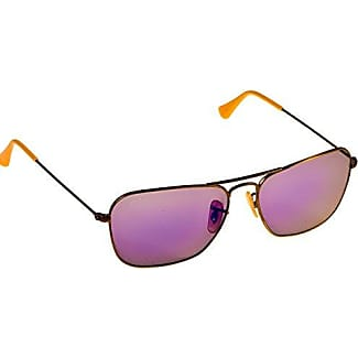 ... inexpensive ray ban caravan square aviator sunglasses in brushed bronze  lilac mirror rb3136 167 4k 4b20a 70256f288e