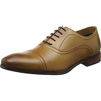 Red TapeStowe - Zapatos Planos con Cordones Hombre, Color Marrón (Tan), 44EU, Talla del manufacturier:11 UK