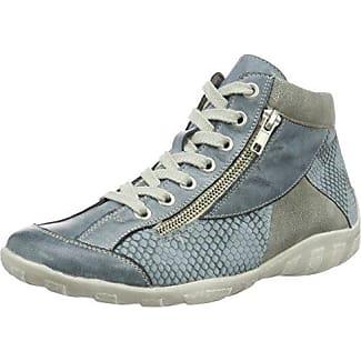 Remonte R3452-45 - Zapatillas de Piel para mujer, color Gris, talla 44