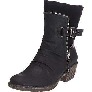 91552 - Botas tacón, talla: 36, Color negro - Schwarz (schwarz 00) Rieker
