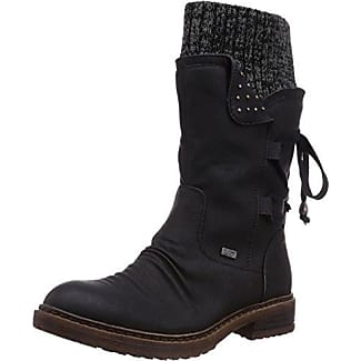 Rieker 91552 - Botas tacón, talla: 36, Color negro - Schwarz (schwarz 00)