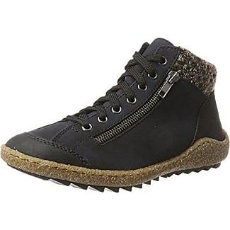 Rieker L6540 Zapatillas Altas de Deporte, para Mujer, Multicolor (schwarz/wine/orange-multi/mogano/00), Talla 42