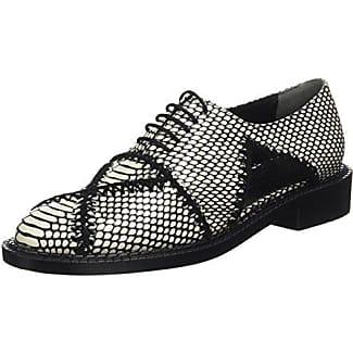 Robert Clergerie Feydoj - Zapatos de Cordones para Mujer Negro Noir (Vernis Noir) 39.5 SdphG