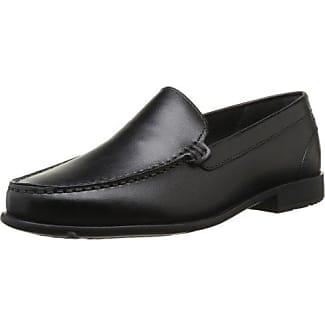 Rockport Devona Dreda Strap Loafer, Mocasines para Mujer, Negro (Negro Patent), 42 EU