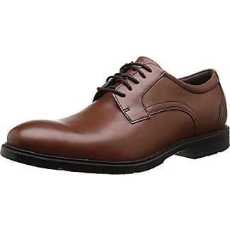 Rockport Essential Details II Apron Toe - Zapatos Planos con Cordones Hombre, Marrón (Tan Antique Leather), 40.5