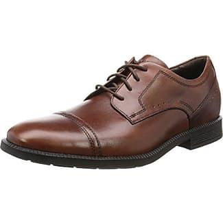 RockportCs Bike Toe Wp - Zapatos de Cordones hombre, negro - negro, 44.5 EU (10 Herren UK)