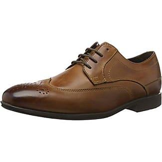 Rockport Style Purpose Wing Tip, Zapatos de Cordones Brogue para Hombre, Marrón (Tan), 43 EU