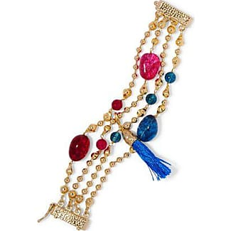 Rosantica Woman Tasseled Beaded Gold-tone Necklace Fuchsia Size Rosantica