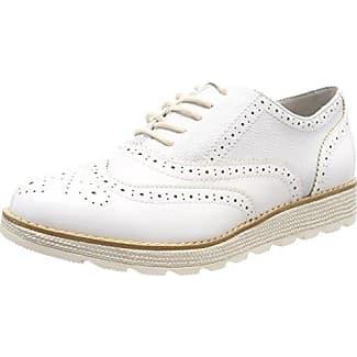 Vanessa E17, Zapatos de Cordones Brogue para Mujer, Blanco (Vernis Blanc Blanc), 41 EU Pellet