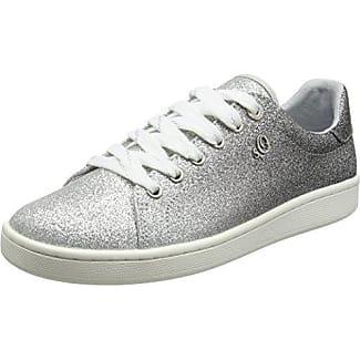 23624, Zapatillas para Mujer, Plateado (Pewter), 37 EU s.Oliver