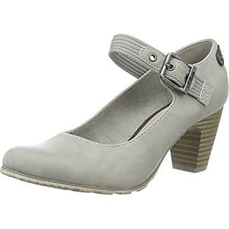 28323, Zapatos de Tacón con Punta Abierta Para Mujer, Gris (Lt Grey), 42 EU s.Oliver