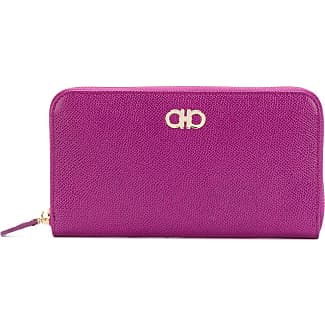Gancio zipped wallet - Pink & Purple Salvatore Ferragamo