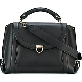Salvatore Ferragamo Medium Soft Sofia Shoulder Bag Black