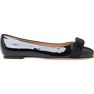 Ballet Flats Ballerina Shoes for Women On Sale in Outlet, Black, Patent, 2017, 5 5.5 6 6.5 7.5 Prada
