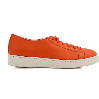 Sneakers for Women On Sale, Orange, Leather, 2017, 3.5 4 5.5 6 Santoni