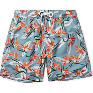 Saturdays Surf NYC Batik Timothy Mid-length Printed Swim Shorts - Black