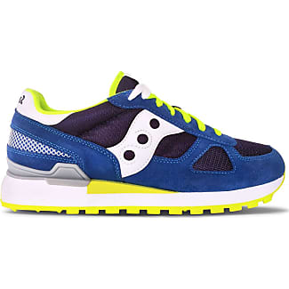 saucony bianche gialle e blu