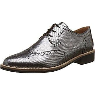 Jonny's Vegan Hedvig, Zapatos de Cordones Derby para Mujer, Silber (Plata), 37 EU