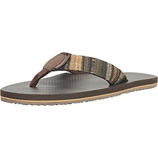 Mens Scott Hawaii Men's Koa Flip Flop On Sale Store Size 43