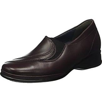 Semler Birgit, Zapatos de Cordones Brogue para Mujer, Rojo (068 Cassis), 38 EU