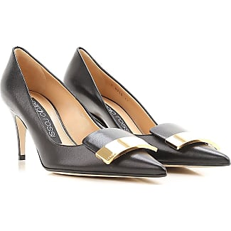 Pumps & High Heels for Women On Sale, Black, Leather, 2017, 6 Sergio Rossi