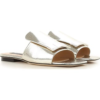Sandals for Women On Sale, Silver, Leather, 2017, 4 4.5 6 Sergio Rossi