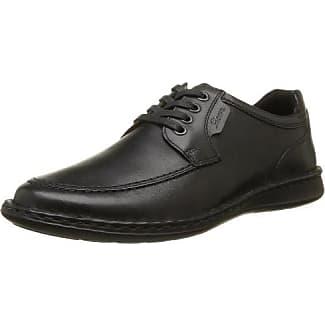 Sioux Kalias - Zapatos con Cordones de Cuero Hombre, Color Negro, Talla 40