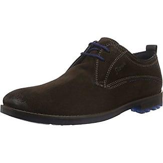 Sioux 28230 - Zapatos de cordones de cuero para hombre, color negro, talla 45 EU (10.5 Herren UK)
