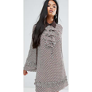 Dress With Collar And Frills In Tile Print - Multi Sister Jane Petite