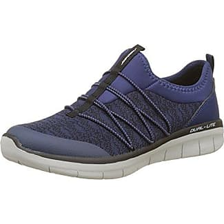 Skechers Galaxies-Enigma, Zapatillas de Entrenamiento Mujer, Azul (Navy/Purple), 36.5 EU