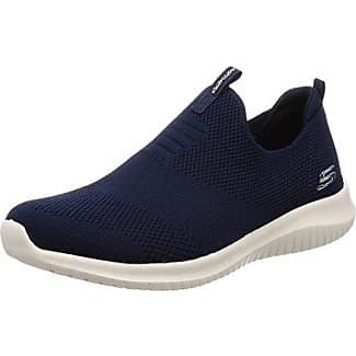 Skechers Ultra Flex-First Take, Zapatillas Sin Cordones para Mujer, Azul (Navy), 38.5 EU