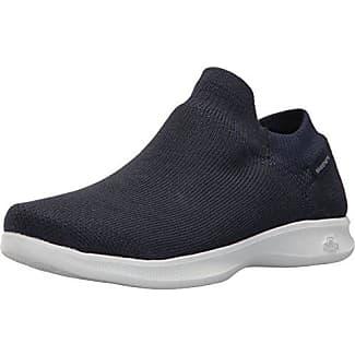 Skechers Go Step Lite-Ultrasock, Zapatillas Altas para Mujer, Azul (Navy/White), 37.5 EU