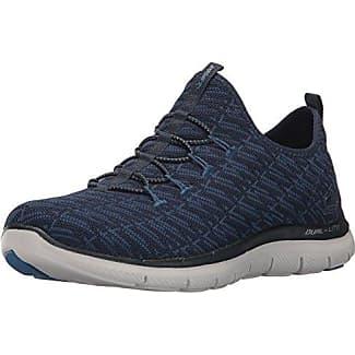 Skechers Flex Appeal 2.0-Insights, Zapatillas sin Cordones para Mujer, Azul (Navy/Blue), 37.5 EU