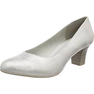 Softline 22361, Zapatos de Tacón para Mujer, Plateado (White/Silver), 38 EU
