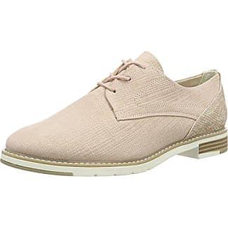 23200, Zapatos de Cordones Oxford para Mujer, Rosa (Rose Metl.Comb 532), 41 EU Marco Tozzi
