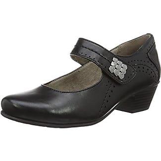29561, Sandalias de Talón Abierto para Mujer, Negro (Black Patent), 39 EU Soft Line