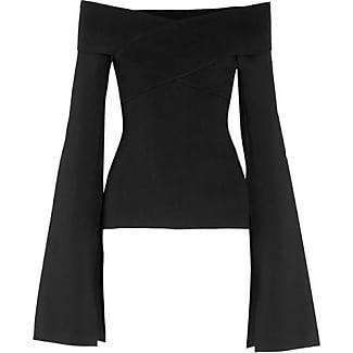 Maja Oberteil Aus Stretch-strick Mit Asymmetrischer Schulterpartie - Wollweiß Solace London