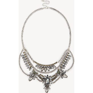 Sole Society Womens Floral Statement Necklace Crystal One Size From Sole Society