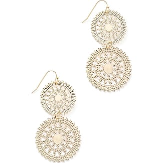 South Moon Under Filigree Disc Earrings Gold