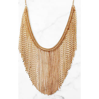 South Moon Under Sun Statement Necklace Gold