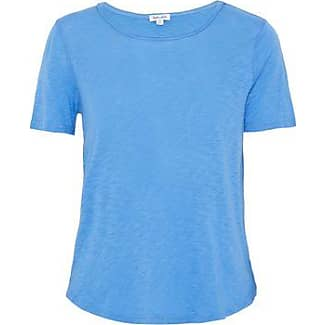 Splendid Woman Slub Modal-blend Jersey T-shirt Indigo Size XS Splendid