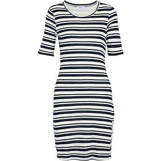 Splendid Woman Lace-up Striped Pointelle And Stretch-knit Mini Dress Ecru Size S Splendid