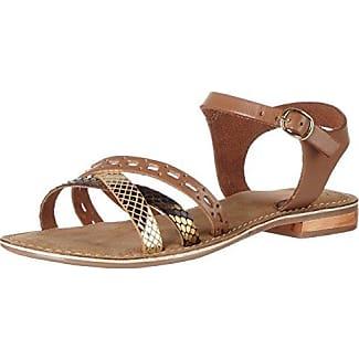 Casma Cork Sandal - Sandalias de Punta Descubierta Mujer, Color Negro, Talla 41 SPM