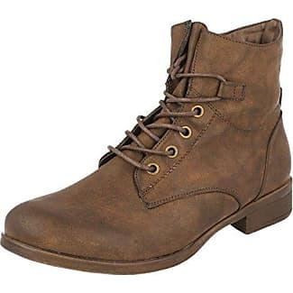 Spot on Damen Ankle Boots mit Schnürung (36 EU) (Grau)